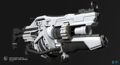 Link Gun Variant with grenade launcher attatchment by AsiaHawkins | Sci-Fi | 3D | CGSociety