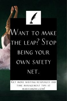Are you holding yourself back from being the person you want to be? Make the leap and stop being your own safety net. #inspiration #motivation #gyst Time Management Strategies, Kill Switch, How To Stop Procrastinating, Do What You Want, Life Plan, Writing Resources, How To Become, How To Make, Self Development