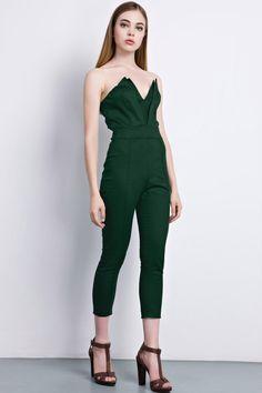 Street-chic Green Strapless Jumpsuit - OASAP.com