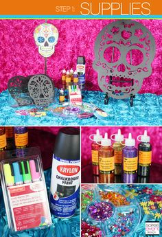 | DIY: How to Make Day of the Dead Sugar Skull Party Decorations! | http://soiree-eventdesign.com