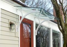 MD+A / Maynard Design + Architecture / contemporary + traditional, residential + commercial, product design / Lincoln MA - Glass Entry Canopy