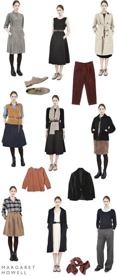 Margaret Howell - epitomizes the vibe Margaret Howell, Autumn Winter Fashion, Spring Fashion, Midi Skirt With Pockets, Core Wardrobe, Next Clothes, Fashion Images, Mode Inspiration, Comfortable Outfits