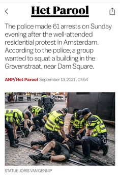 Dam Square, Squats, Amsterdam, Police, Wellness, Statue, News, Squat, Law Enforcement