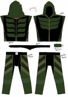 Green Arrow Costume Pattern | Green Arrow's costume from Smallville Season 9 (UPDATE PAGE 8 4/16/10 ...