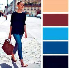 Colour Combinations Fashion, Fashion Colours, Colorful Fashion, Color Combinations, Color Harmony, Color Balance, Fashion Mode, Fashion Outfits, Vintage Mode