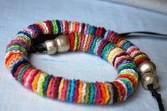 Colorido largo de ganchillo collar multicolor No. 3 Por LavenderField
