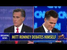 Mitt Romney debates himself, EVERYONE SHOULD WATCH THIS!