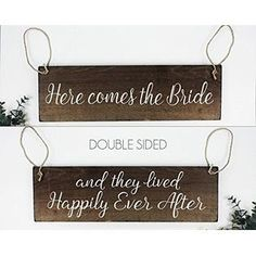 Happily Ever After Sign Ring Bearer Sign Here Comes the Bride Sign Double Sided Ring Bearer Sign Flower Girl Sign Rustic Wedding Decor * Check out the image by visiting the link. (This is an affiliate link and I receive a commission for the sales) Fall Wedding, Diy Wedding, Dream Wedding, Wedding Ideas, Wedding Stuff, Wedding Inspiration, Wedding Bells, Elegant Wedding, Wedding Favors