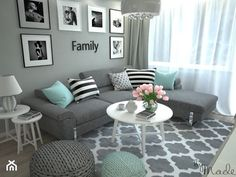 turquoise and grey living room / turquoise and grey living room , turquoise and grey living room ideas , turquoise and grey living room decor , turquoise and grey living room teal Mint Living Rooms, Classy Living Room, Living Room Turquoise, Living Room Decor Cozy, Living Room Grey, Living Room Interior, Room Decor Bedroom, Cozy Bedroom, Turquoise Home Decor