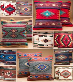 There is no easier way to incorporate southwest style into your home decor than by adding a few beautiful accent pieces like southwestern pillows. Our southwest style pillow covers feature an outstanding old style Zapotec Indian design for classic southwestern or western decor. The many colors and design options allow you to create just the right look. Find great southwestern pillows and other rustic decor at www.missiondelrey...