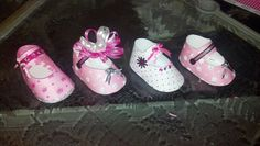 Paper baby shoes