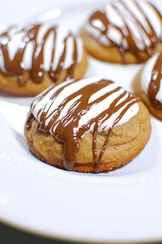 Soft-baked, thick and chewy Biscoff cookies topped with marshmallow cream and chocolate. A portable s'more -- no campfire needed!