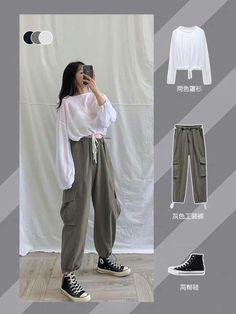 Korean Girl Fashion, Korean Fashion Trends, Korean Street Fashion, Ulzzang Fashion, Korea Fashion, Asian Fashion, Look Fashion, Fashion Tips, Korean Outfit Street Styles