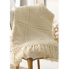 Mary Maxim - Free Aran Nosegay Throw Crochet Pattern - Free Patterns - Patterns & Books