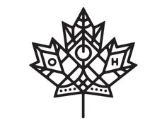 Having just recently moved to Toronto from the UK I'm toying with the idea of getting a Canada themed tattoo. This is a second pass on a possible design. Art Design, Leaf Design, Icon Design, Graphic Design, Elegant Tattoos, Beautiful Tattoos, Maple Leaf Logo, Canada Logo, Canada Tattoo