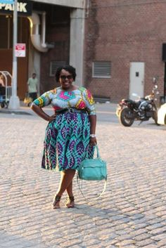 Plus Size Ankara Mixed Prints