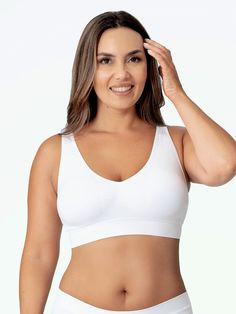 Truekind™ Everyday Essential Throw-on Wirefree Bra Pretty Bras, Beautiful Inside And Out, Bra Styles, Hair Styles, Hollywood Celebrities, Girls Dream, Your Girl, How To Fall Asleep, Perfect Fit