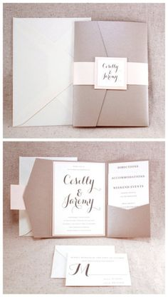 invitations. neutral. pockets.