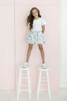 Mary at Zuri Models for Aria Kids by LEE CLOWER PHOTOGRAPHY pastel spring looks tween fashion