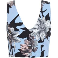 Miss Selfridge Graphic Floral Cotton Top, Multi (€11) ❤ liked on Polyvore featuring tops, graphic tops, sleeve top, floral print tops, sleeveless tops and miss selfridge