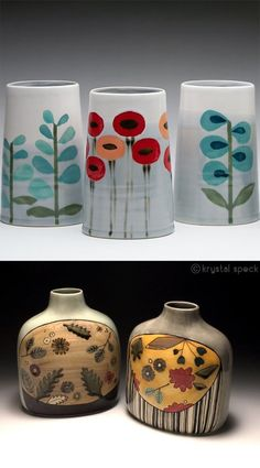 pottery glazes Pottery painting fan on Ceramic Design, Ceramic Decor, Ceramic Clay, Ceramic Painting, Ceramic Vase, Painting On Mugs, Ceramic Boxes, Porcelain Tiles, China Painting