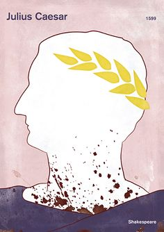 "Julius Caesar, Shakespeare - Large literary poster, literary gift, minimalist poster, theatre poster, bookish gift, book cover poster, digital download  This poster is inspired by William Shakespeare's famous tragedy ""Julius Caesar"", dated 1599. Although the title is Julius Caesar, the central psychological drama of the play focuses on Brutus' struggle between the conflicting demands of honor, patriotism and friendship."