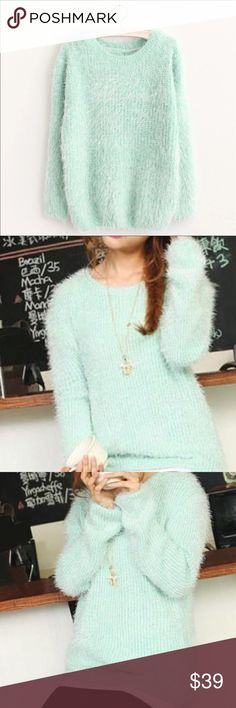 Spotted while shopping on Poshmark: Mint knit fuzzy sweater! #poshmark #fashion #shopping #style #Sweaters Plus Fashion, Fashion Tips, Fashion Design, Fashion Trends, Oversized Cardigan, Fit S, Winter Outfits, Autumn Fashion, Sweaters For Women