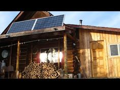 30 year old log cabin. Inside and outside the cabin, see the description of a small Solar System. Solar Power for a small log cabin Off the Grid in Canada us...