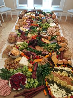Charcuterie board buffet for anniversary party