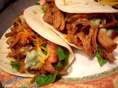 Slow Cooker Sweet Pulled Pork Tacos!