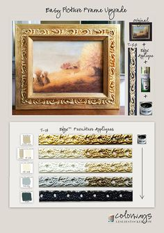 Colorways with Leslie Stocker » DIY Easy Picture Frame Upgrade with Efex™ Appliques