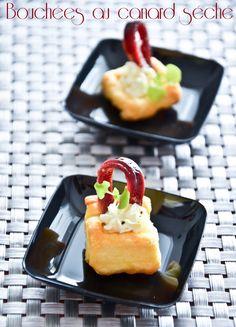 Petites bouchées de canard feuilleté et sa crème Kiri ! #Kiri #recette #feuillete #apero #gourmand