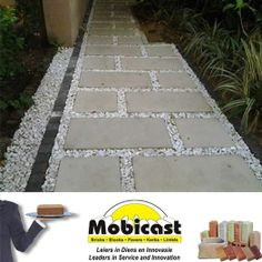 A beautiful walkway for those areas where grass just won't grow. Mobicast ( Bricks, Blocks, Pavers and Kerbs ) - your first choice supplier of #bricks, #paving, cladding and retaining blocks. #mobicast