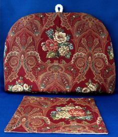 Tea Cozy Red Paisley Floral Padded US Made New With Trivet Cosy