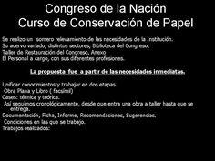 RestaurayConservaObras de Arte: Curso Conservacion de papel en Congreso de la Naci...