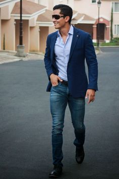 Men's attire blazer gents style academy casual look fashion for men.