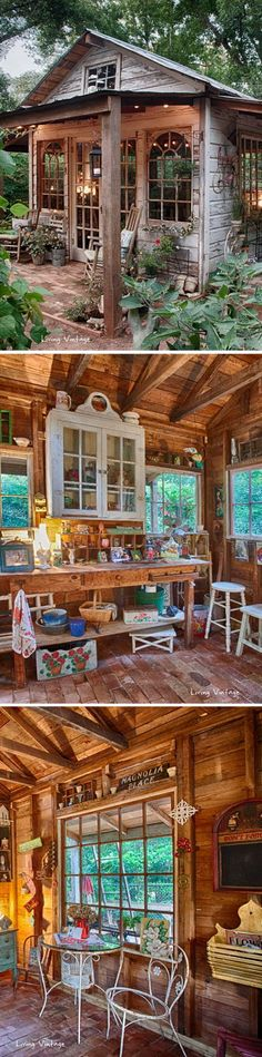 Stunning Garden Shed Cabin Created with Salvagd Wood.: