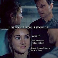 Divergent | funny | Shailene Woodley | tris prior | the fault in our stars | hazel grace Lancaster