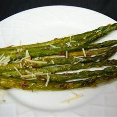 Oven-Roasted Asparagus Recipe - Allrecipes.com/Had this for Thanksgiving this year, awesome!!