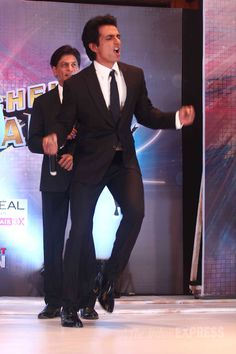 Sonu Sood and Shah Rukh Khan at the launch of 'Dil Se Naachein Indiawaale' dance reality show. #Bollywood #Fashion #Style #Handsome