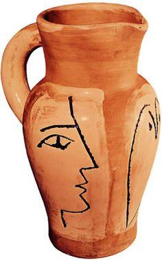 Jarra de cerámica obra de Pablo Picasso (siglo XX), Barcelona. Museo Picasso
