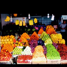 Turkey, Bodrum has bazaars full of fresh tasty fruits and vegetebles. Instead of buying them with number you can buy them for kilograms. 1 kilo is 2.2 pound.