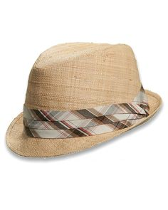 Plaid Band Fedora from Tommy Bahama    www.homeaway.com/...