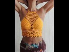 Halter top corsé con granny tejido a crochet en 3 tallas -  Tejiendo Perú - YouTube