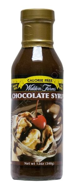 Walden Farms Chocolate Syrup...Calorie free, carb free and fat free and taste delicious on berries. A dieter's bliss.