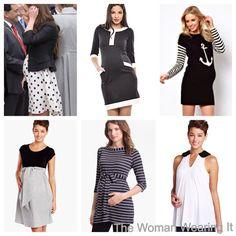 The Woman Wearing It  maternity looks #maternity #duchesskate #blackandwhite #anchor