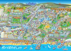 Phil Dobson  Brighton Map http://www.magicpen.co.uk/page2.html