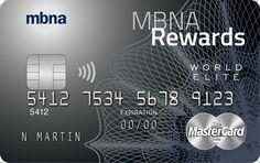 MBNA Rewards World Elite Review - GreedyRates
