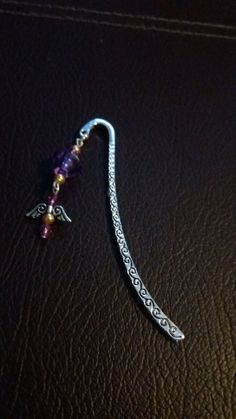 Tibetan Silver Book Mark  Angel Wings with by AmandaClaireCrafts
