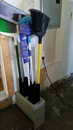Commercial Mop And Broom Holder Wall Mount Hanger